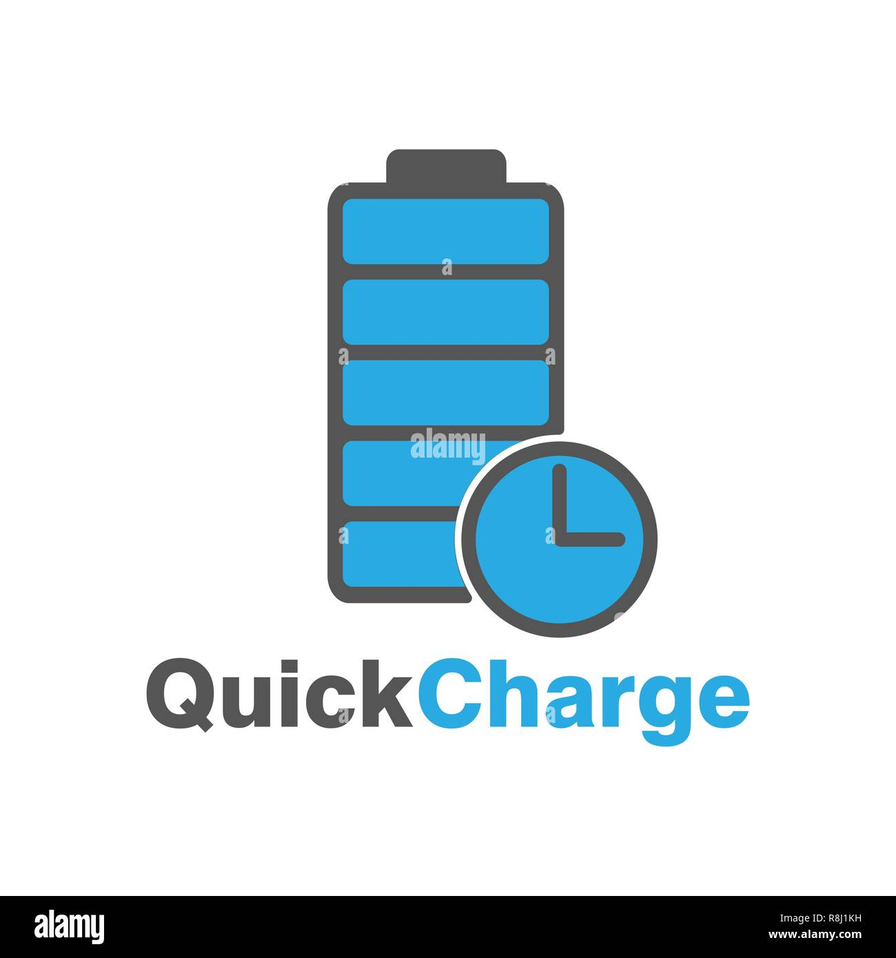Vector fast charge logo. Speed charge energy logo. Unique electric and accumulator logotype design template. - Stock Vector