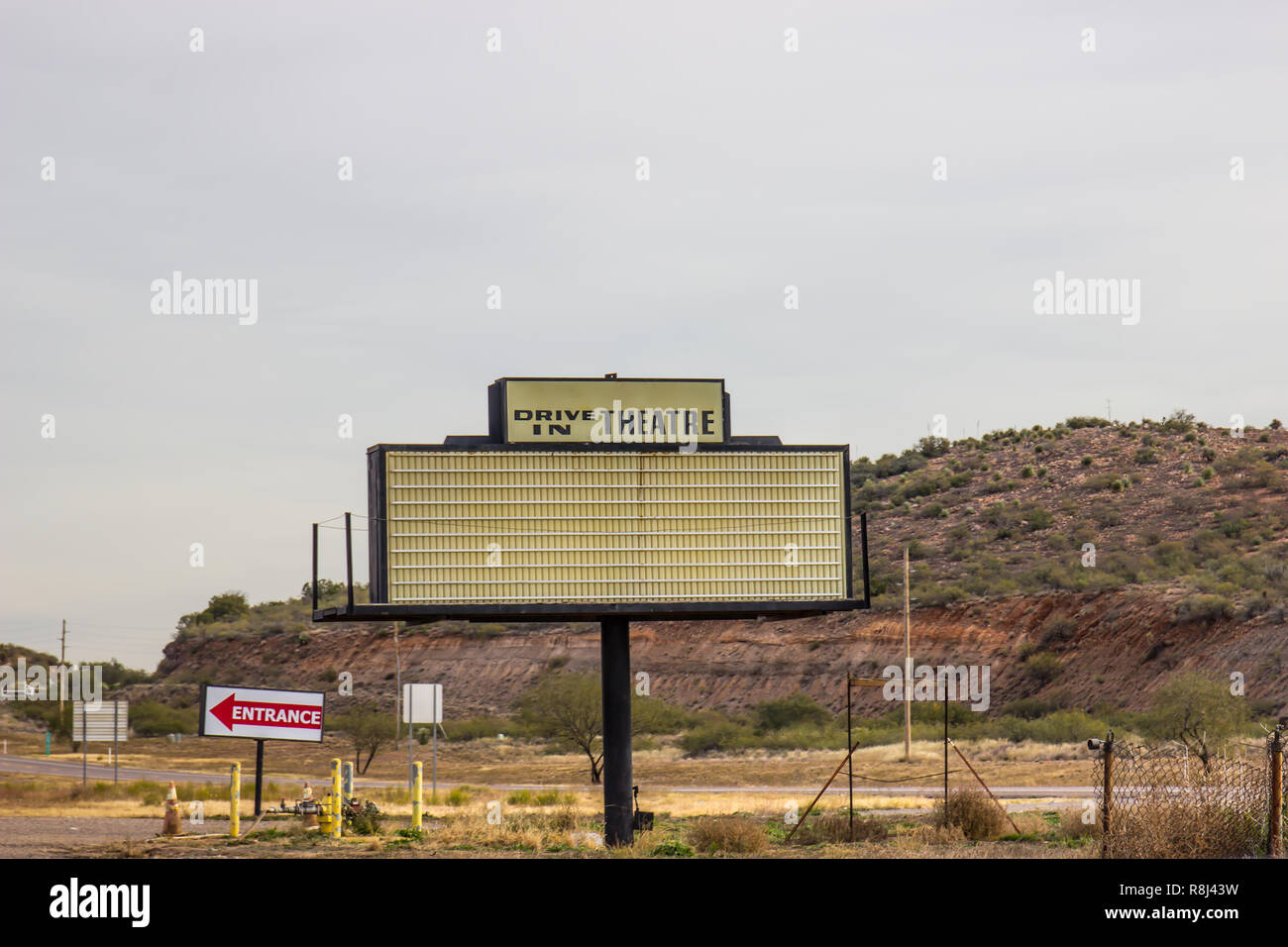 Retro Drive In Movie Theater Sign Stock Photo Alamy