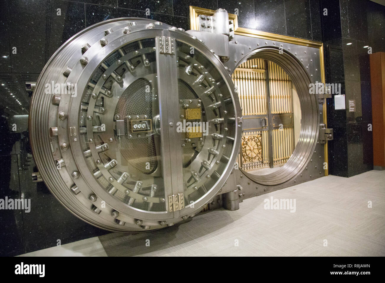 Wells Fargo Bank Vault, Houston, Texas - Stock Image