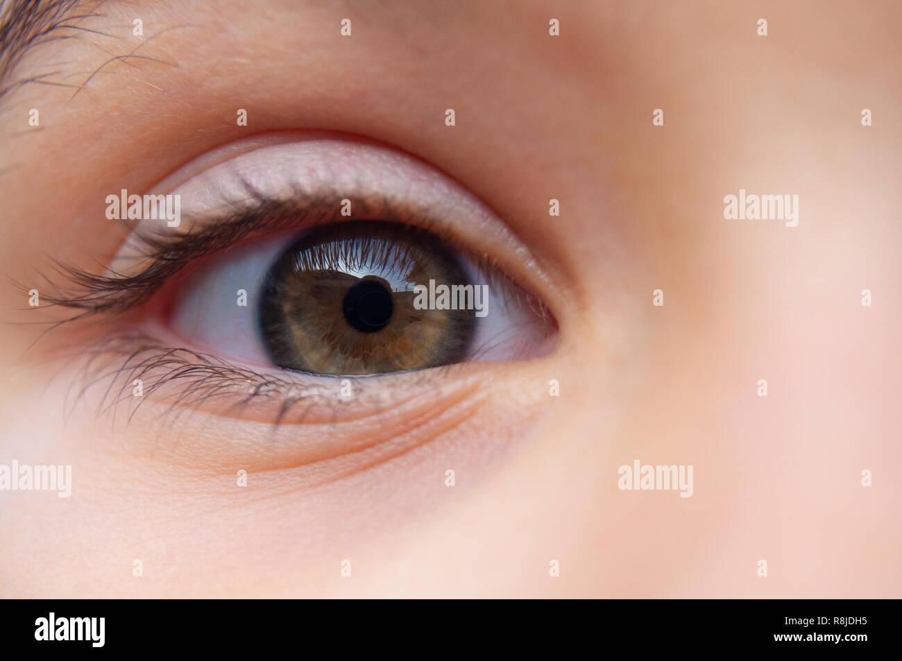 Eye on you. Look into my eye - Stock Image