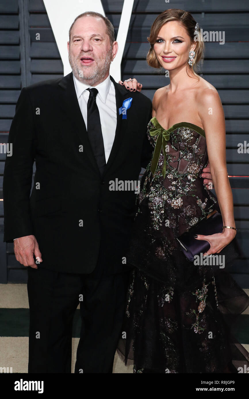 BEVERLY HILLS, LOS ANGELES, CA, USA - FEBRUARY 26: Harvey Weinstein, Georgina Chapman arrives at the 2017 Vanity Fair Oscar Party held at the Wallis Annenberg Center for the Performing Arts on February 26, 2017 in Beverly Hills, Los Angeles, California, United States. (Photo by Xavier Collin/Image Press Agency) Stock Photo