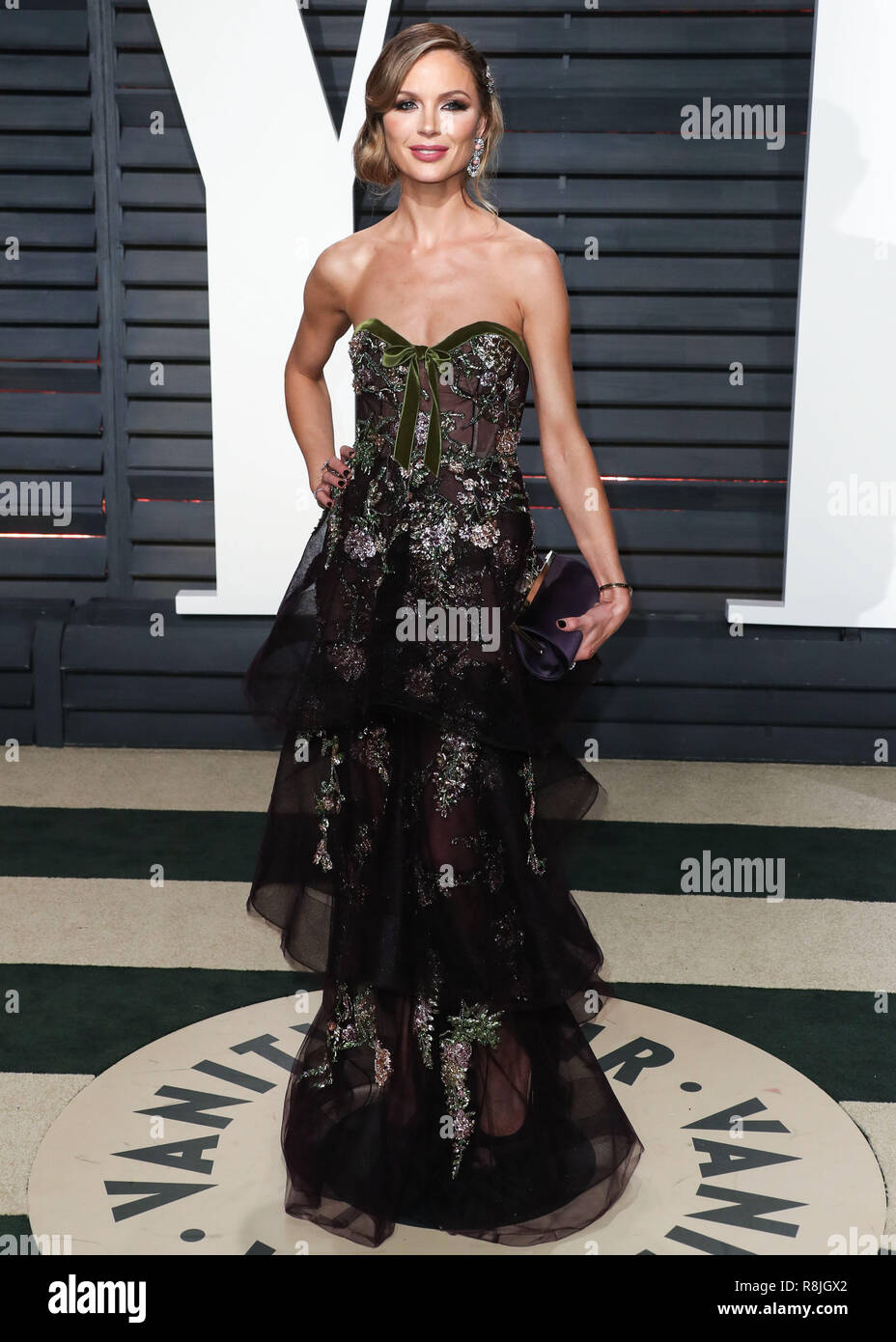 BEVERLY HILLS, LOS ANGELES, CA, USA - FEBRUARY 26: Georgina Chapman arrives at the 2017 Vanity Fair Oscar Party held at the Wallis Annenberg Center for the Performing Arts on February 26, 2017 in Beverly Hills, Los Angeles, California, United States. (Photo by Xavier Collin/Image Press Agency) Stock Photo