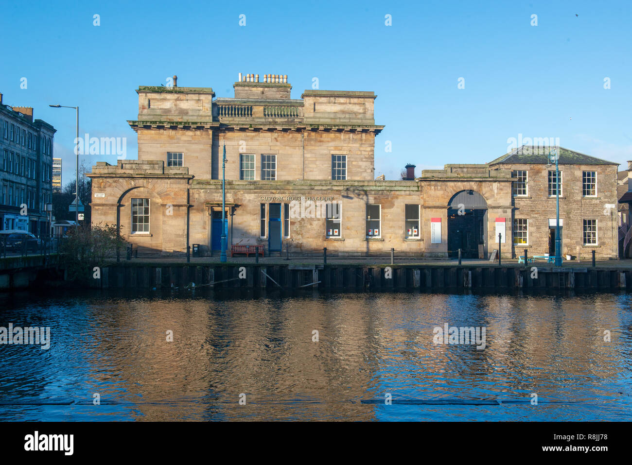 Message from the skies GV, Custom House Leith - Stock Image