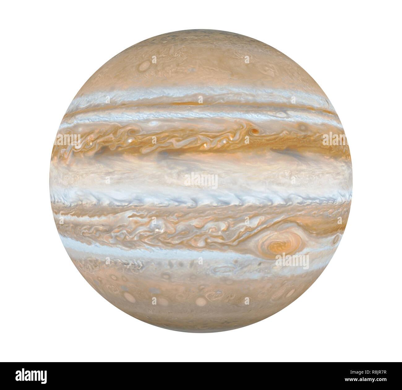 Planet Jupiter Isolated - Stock Image
