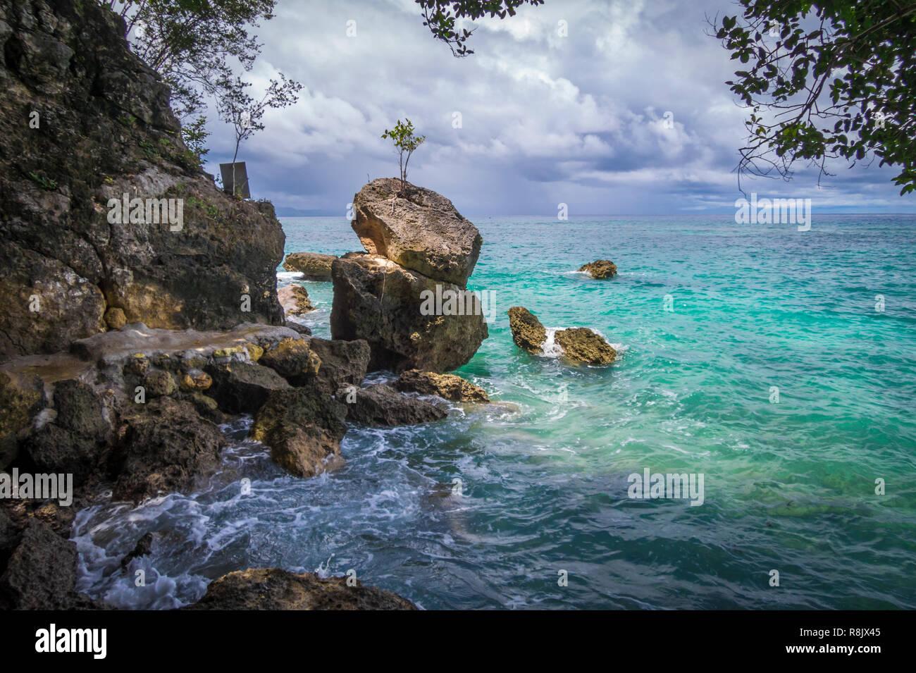 an den Sandbuchten im Süden von Mindanao Stock Photo