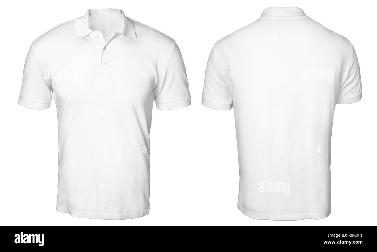 Blank Polo Shirt Mock Up Template Front And Back View Isolated On