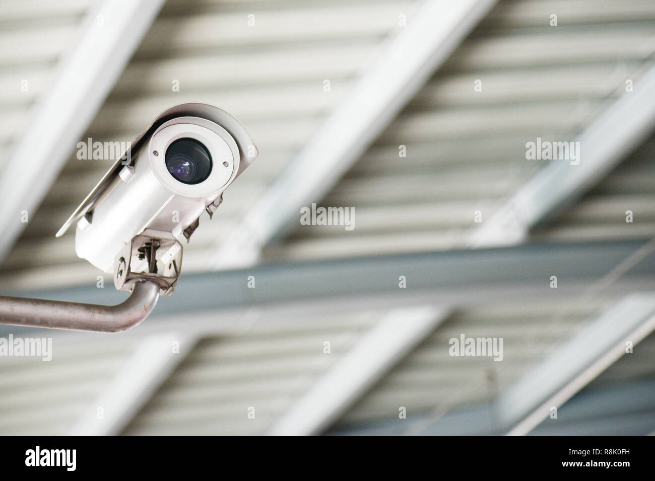 Security CCTV camera or surveillance system.CCTV camera, surveillance camera, video surveillance camera - Stock Image