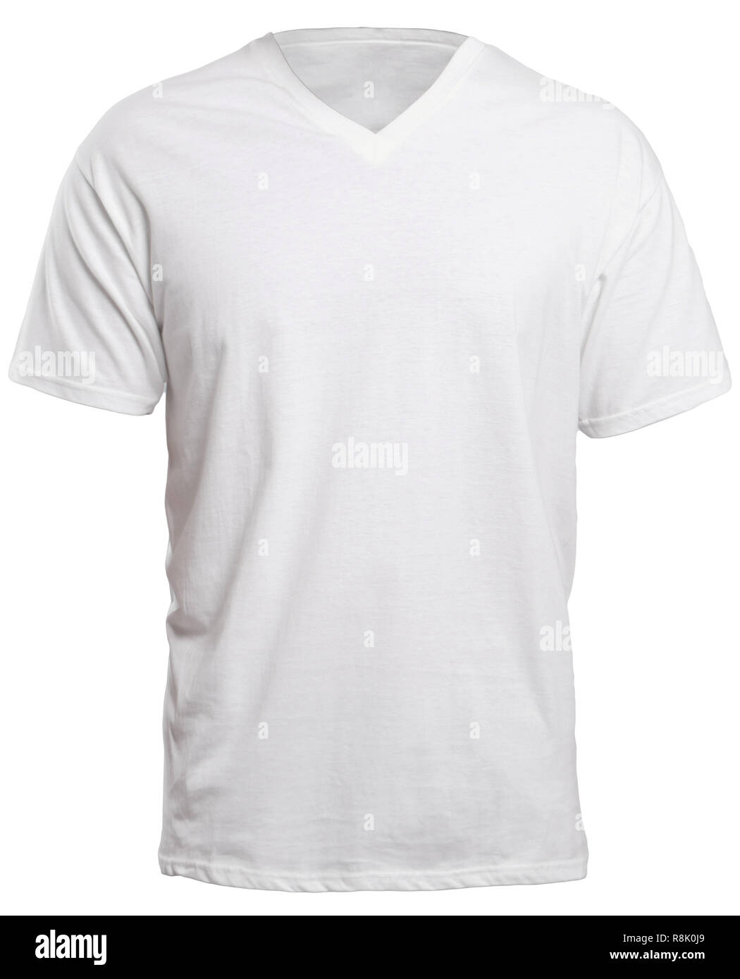 523606c34c9c59 Blank v-neck shirt mock up template, front view, isolated on white, plain t- shirt mockup. V Neck tee design presentation for print.