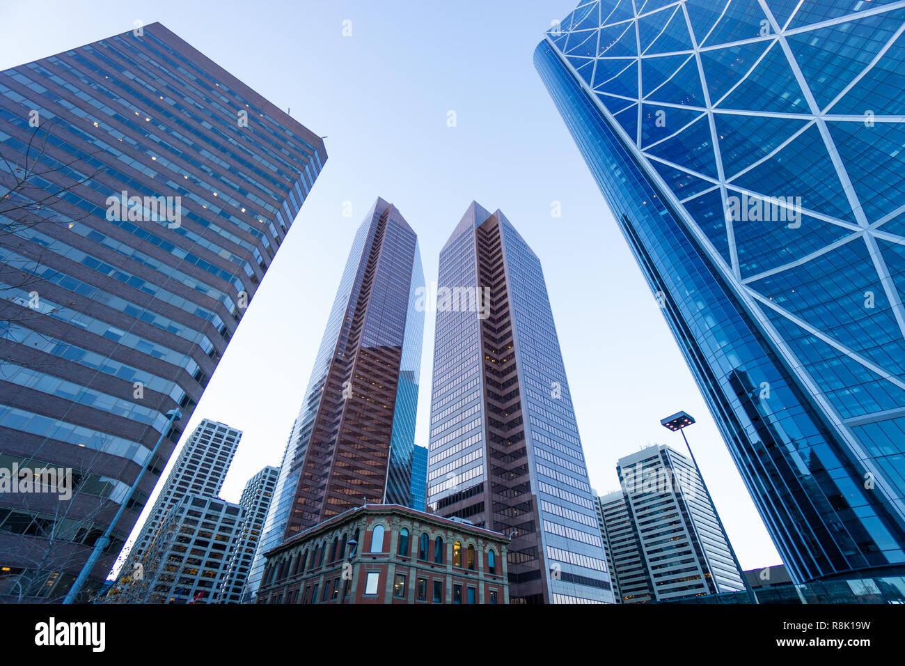calgary downtown city skyline - Stock Image