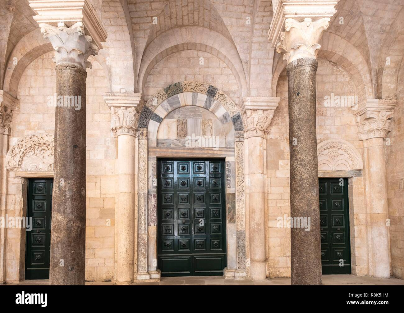 Italy, Apulia, Trani, Church of Ognissanti or Church of the Templars built by - Stock Image