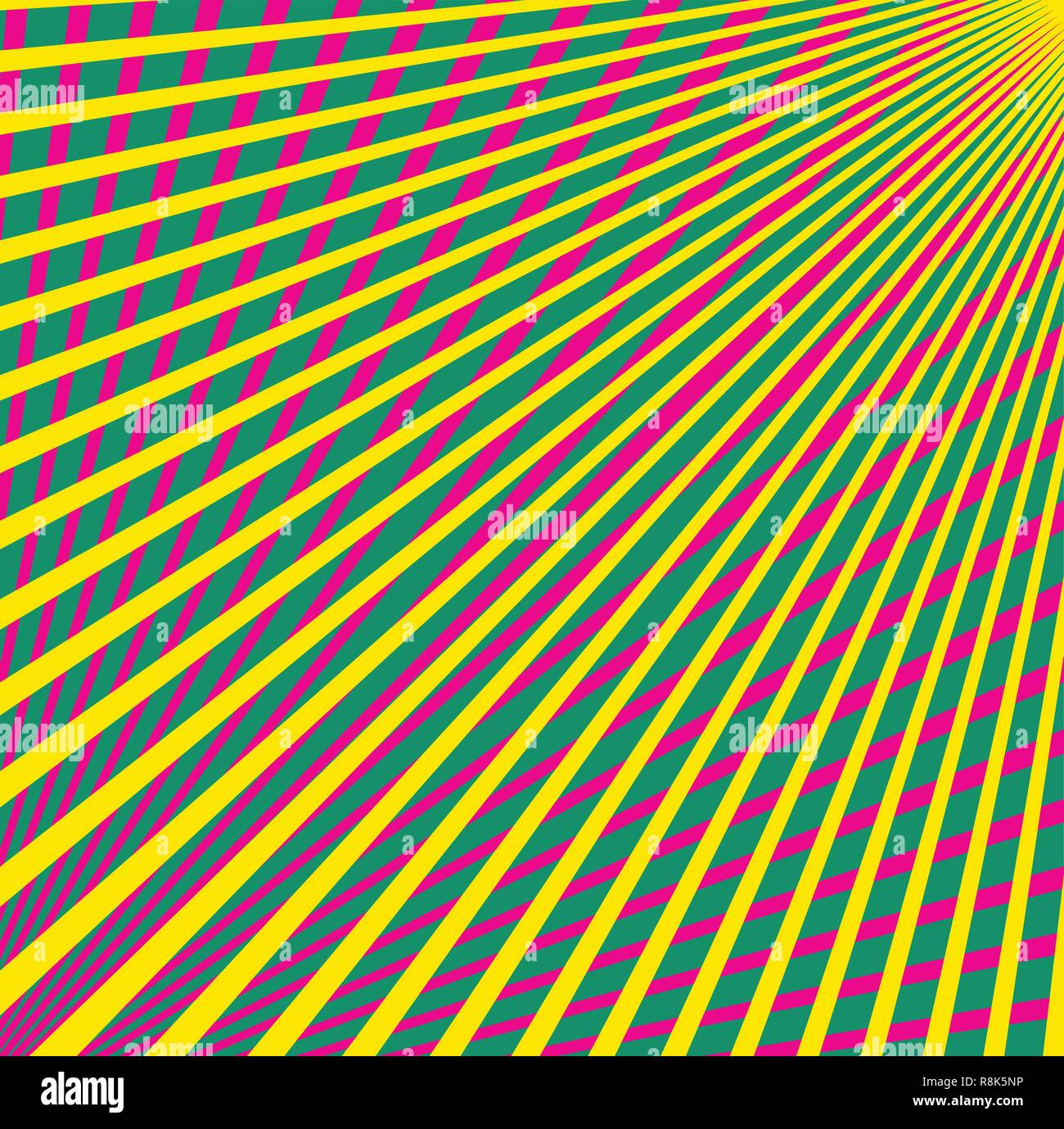 Multi colored converging lines - Stock Vector