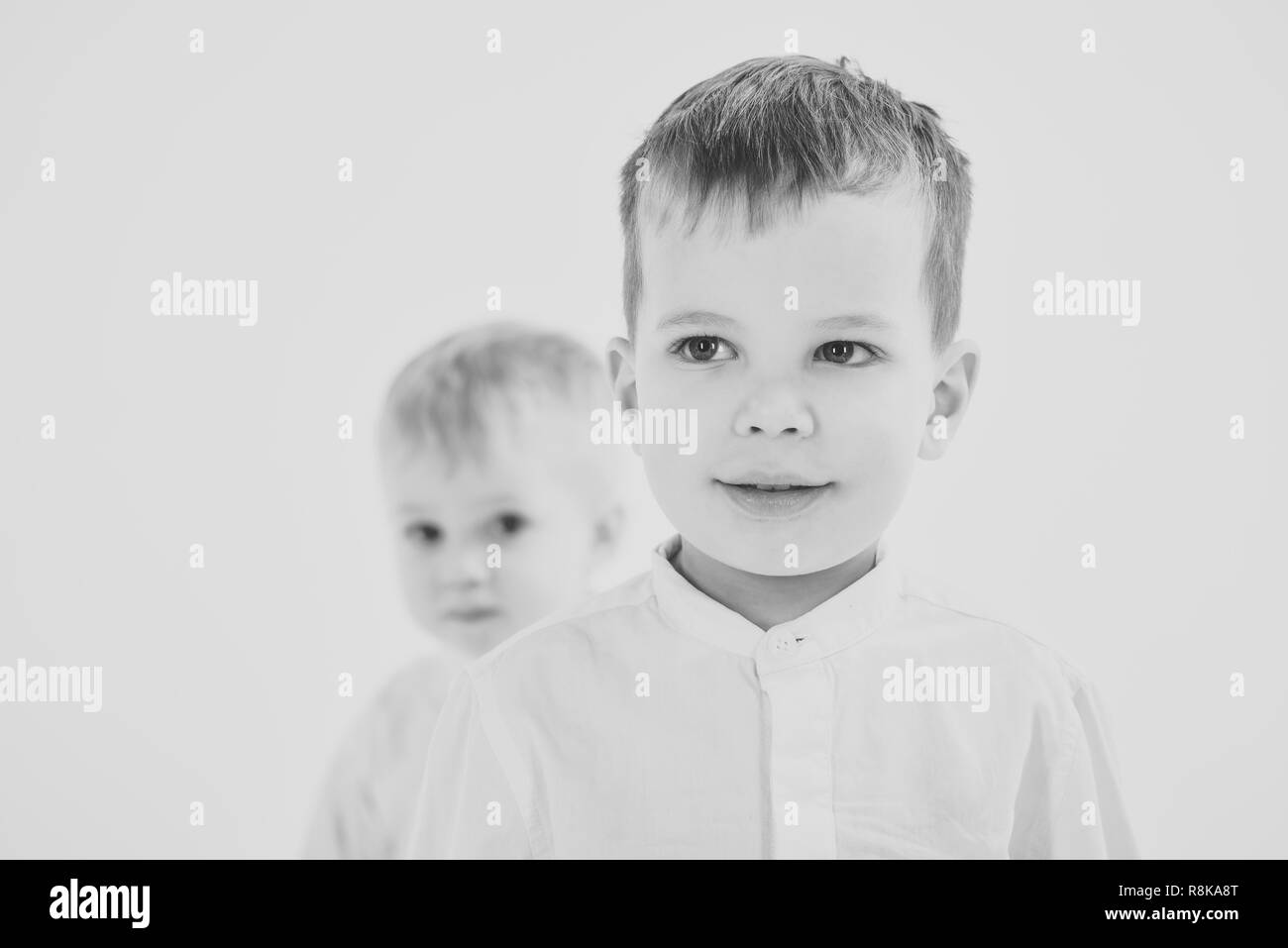 Happy family, values, brothers. - Stock Image