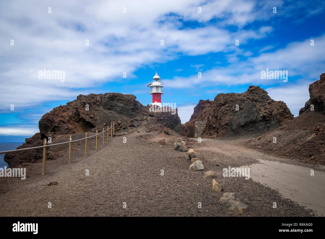 Leuchtturm am Teno, Nordseite von Teneriffa - Stock Image