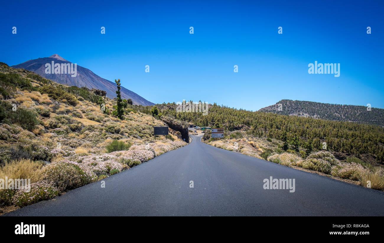 TF-24 im Nationalpark Teide zur Sternwarte, Teneriffa - Stock Image