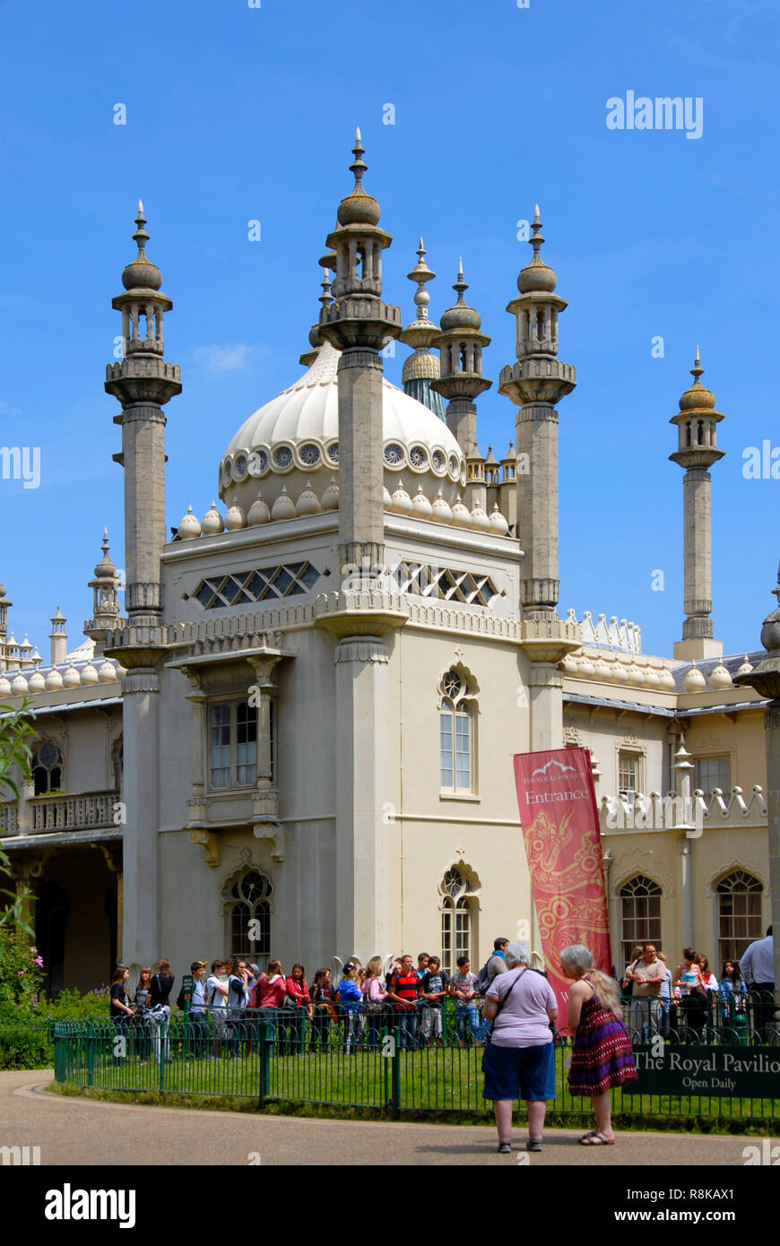 The Royal Pavilion, Brighton, East Sussex, England - Stock Image