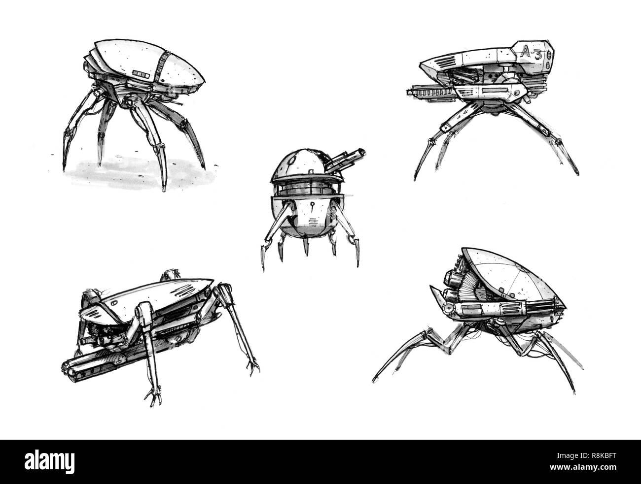 Sci Fi Futuristic Robot Concept Art