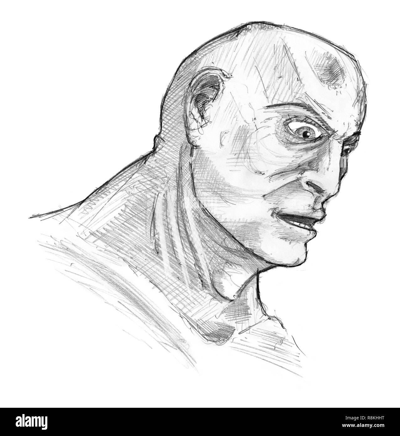 Art drawing face man sketch stock photos art drawing face
