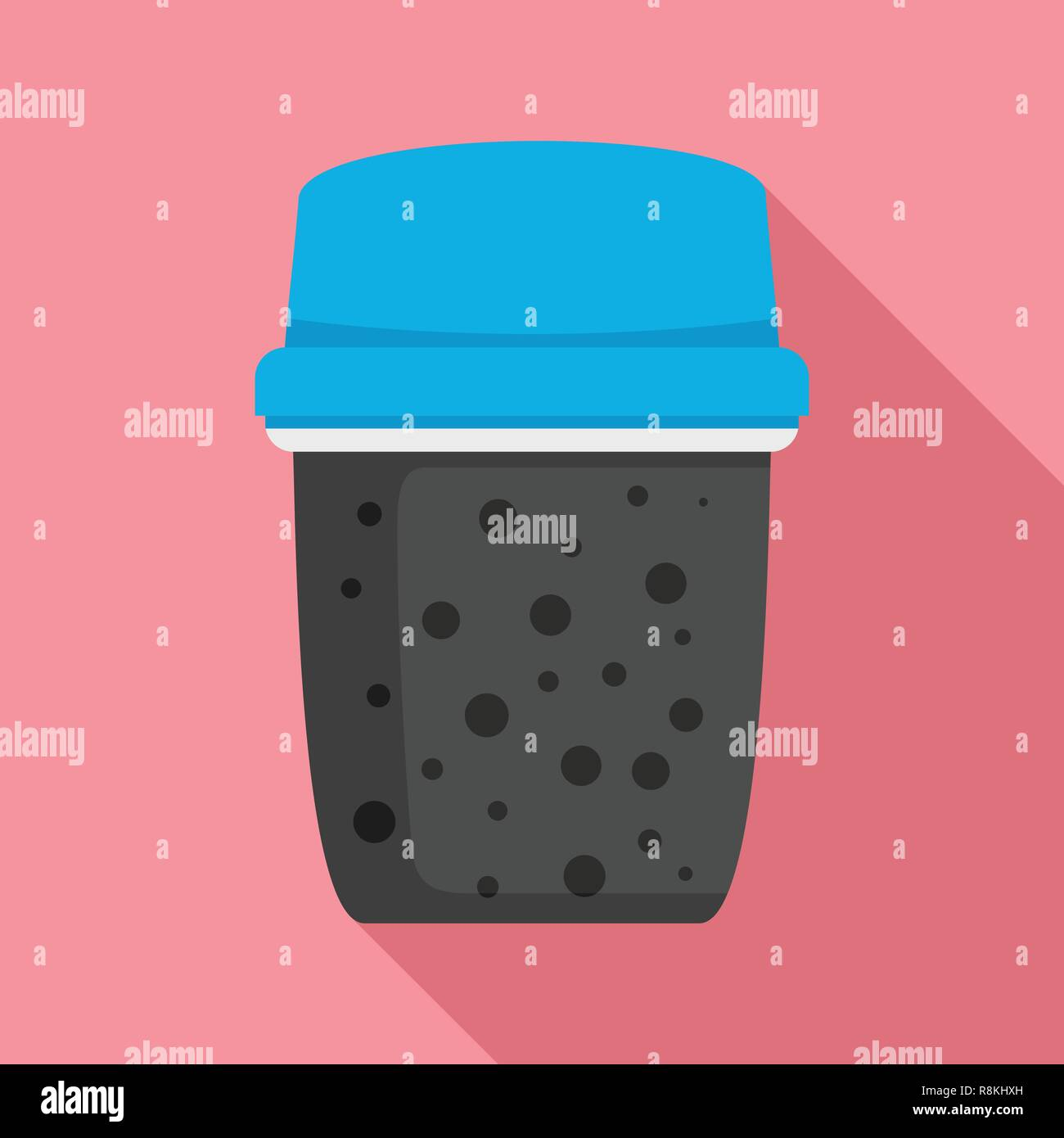 Dirty water filter icon. Flat illustration of dirty water filter vector icon for web design - Stock Image