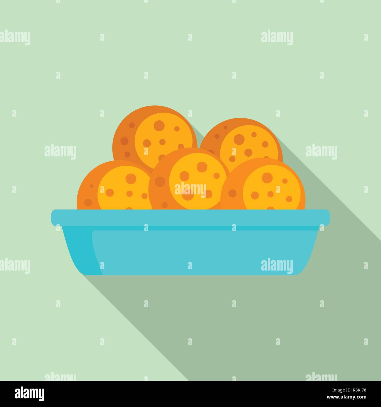 Mexican cookie icon. Flat illustration of mexican cookie vector icon for web design - Stock Vector