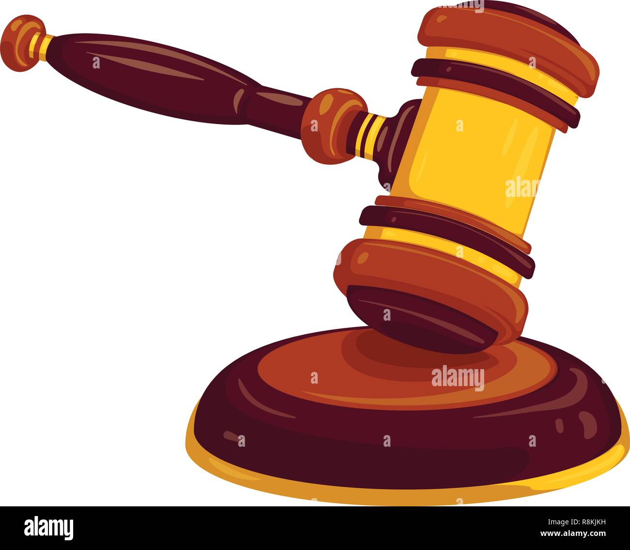 Wood Gavel Icon Cartoon Of Wood Gavel Vector Icon For Web Design