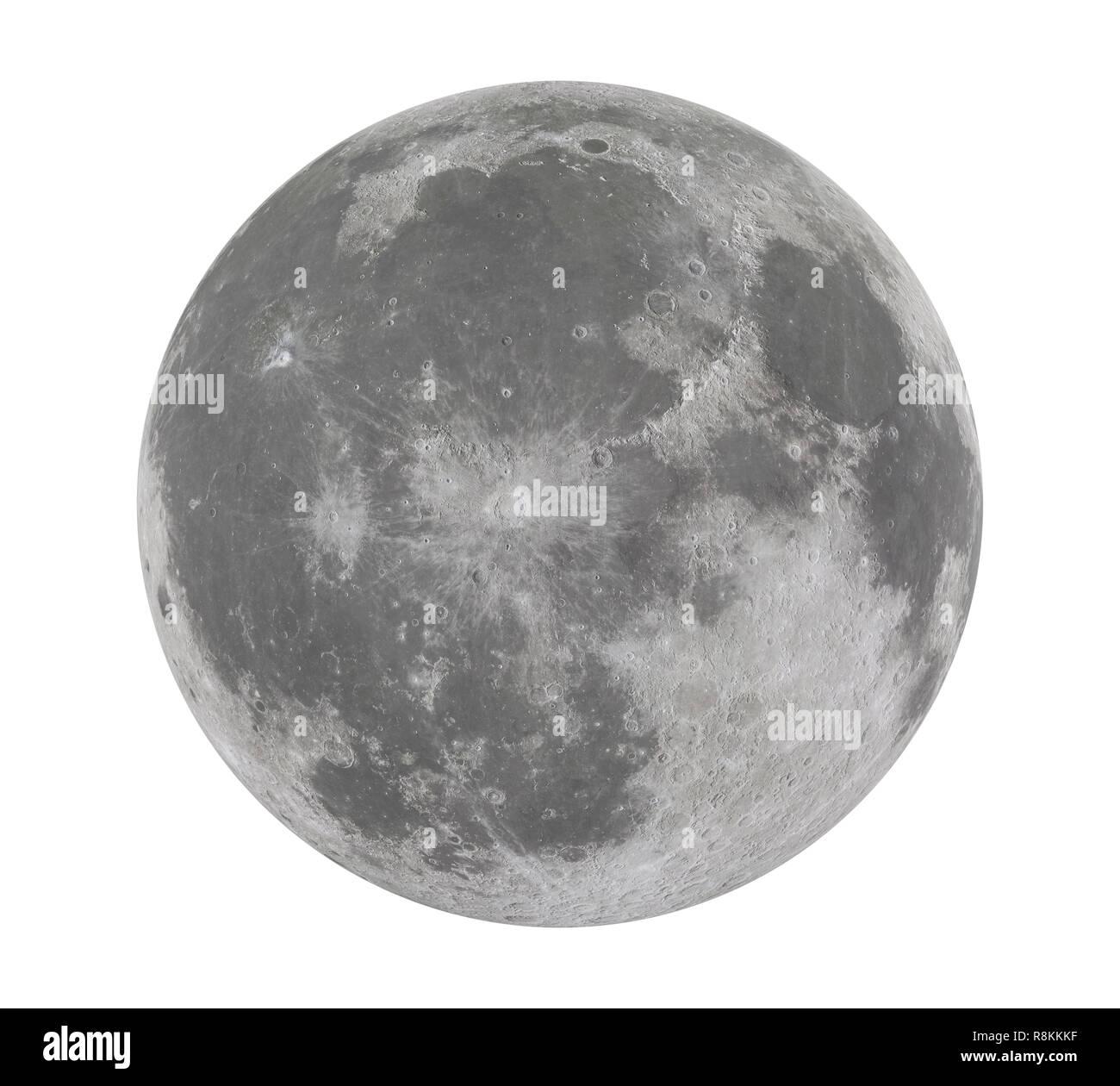 Full Moon Isolated - Stock Image