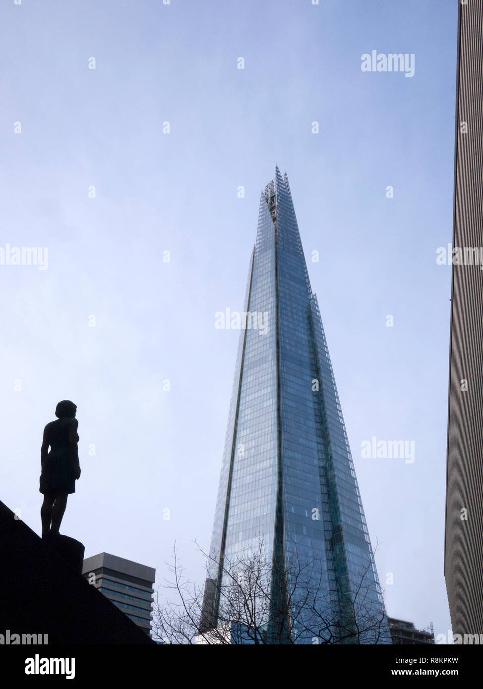 Views of the London Shard building in Bermondsey South East London - Stock Image