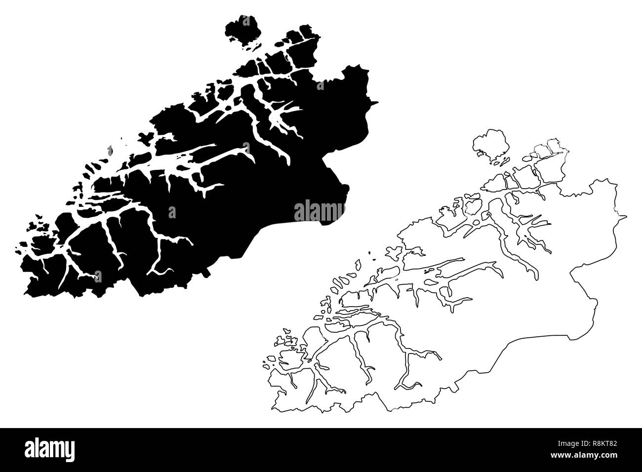 More og Romsdal (Administrative divisions of Norway, Kingdom of Norway) map vector illustration, scribble sketch More and Romsdal fylke map - Stock Image