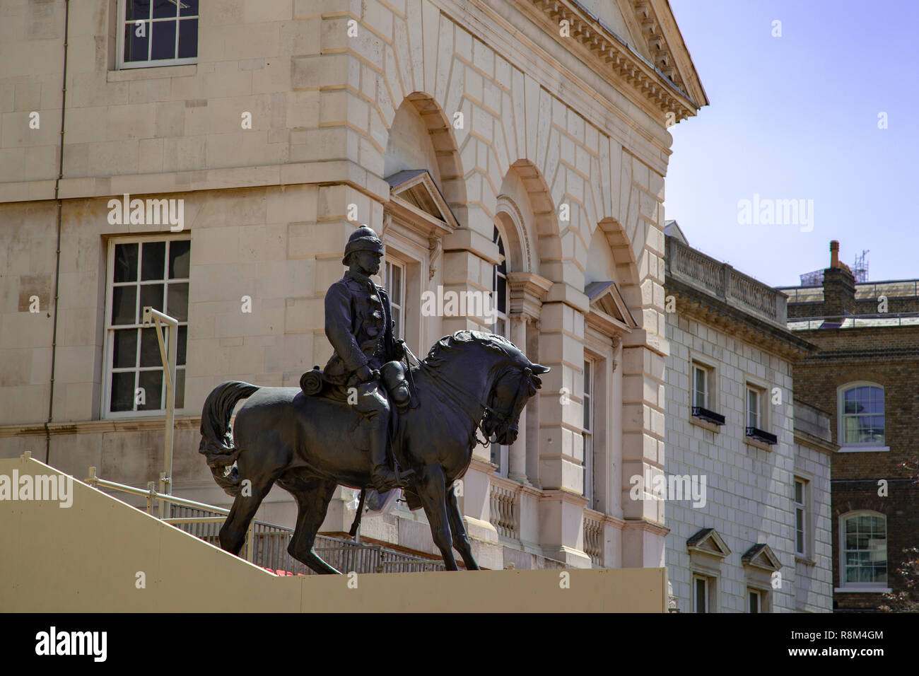 The statue of Earl Roberts (1832-1914) on Horse Guards Parade at Pall Mall in London, England - Stock Image