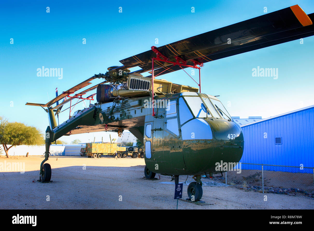 Sikorsky H-5G Tarhe heavy lift helicopter on display at the Pima Air & Space Museum in Tucson, AZ - Stock Image