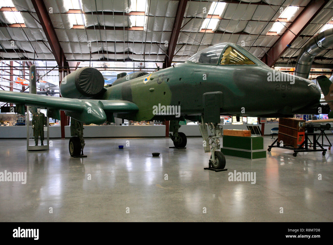 US Air Force Fairchild Republic A-10 Thunderbolt II fighter plane on display at the Pima Air & Space Museum in Tucson, AZ - Stock Image