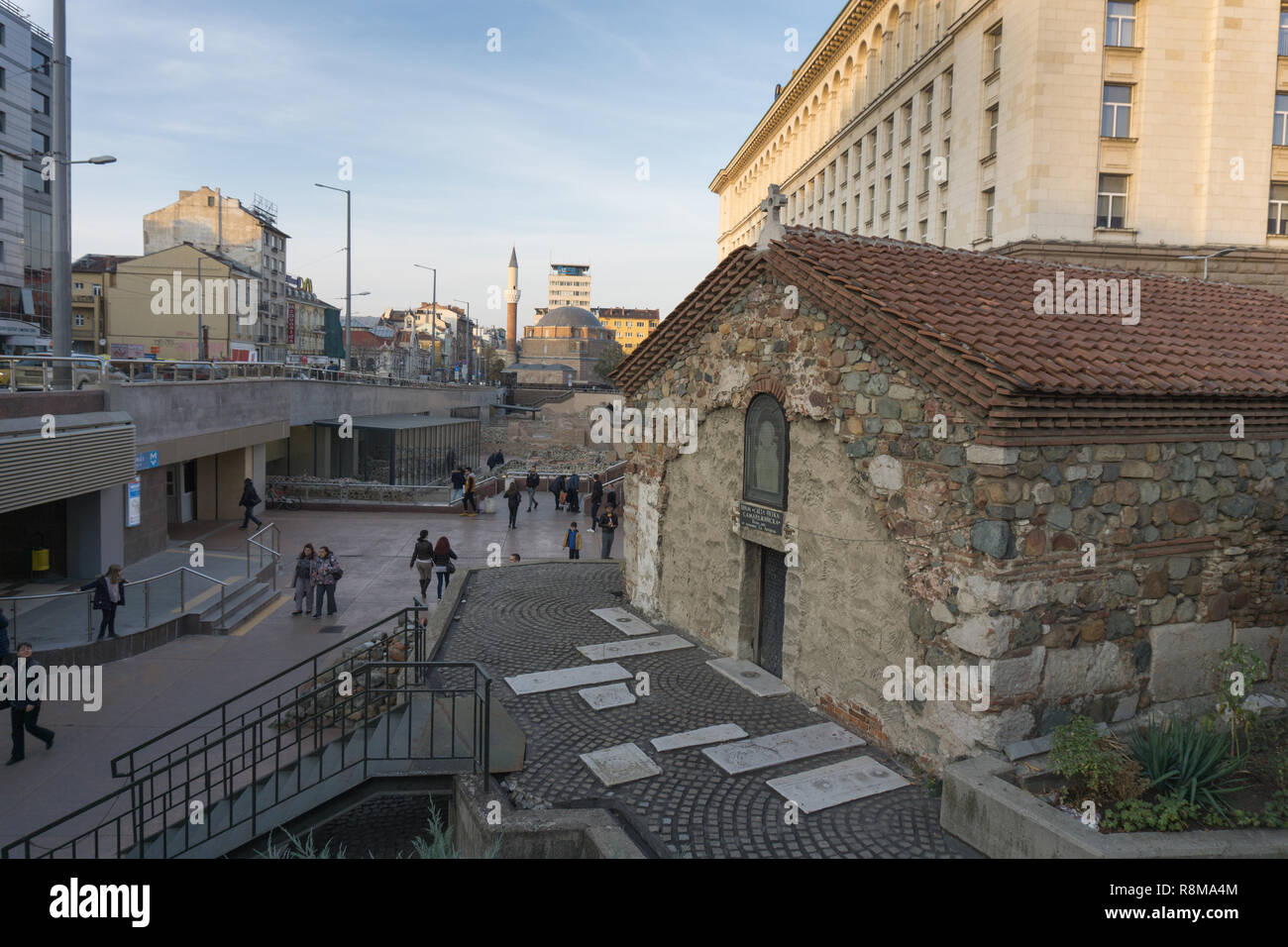 View of Serdika Station from the outside Stock Photo