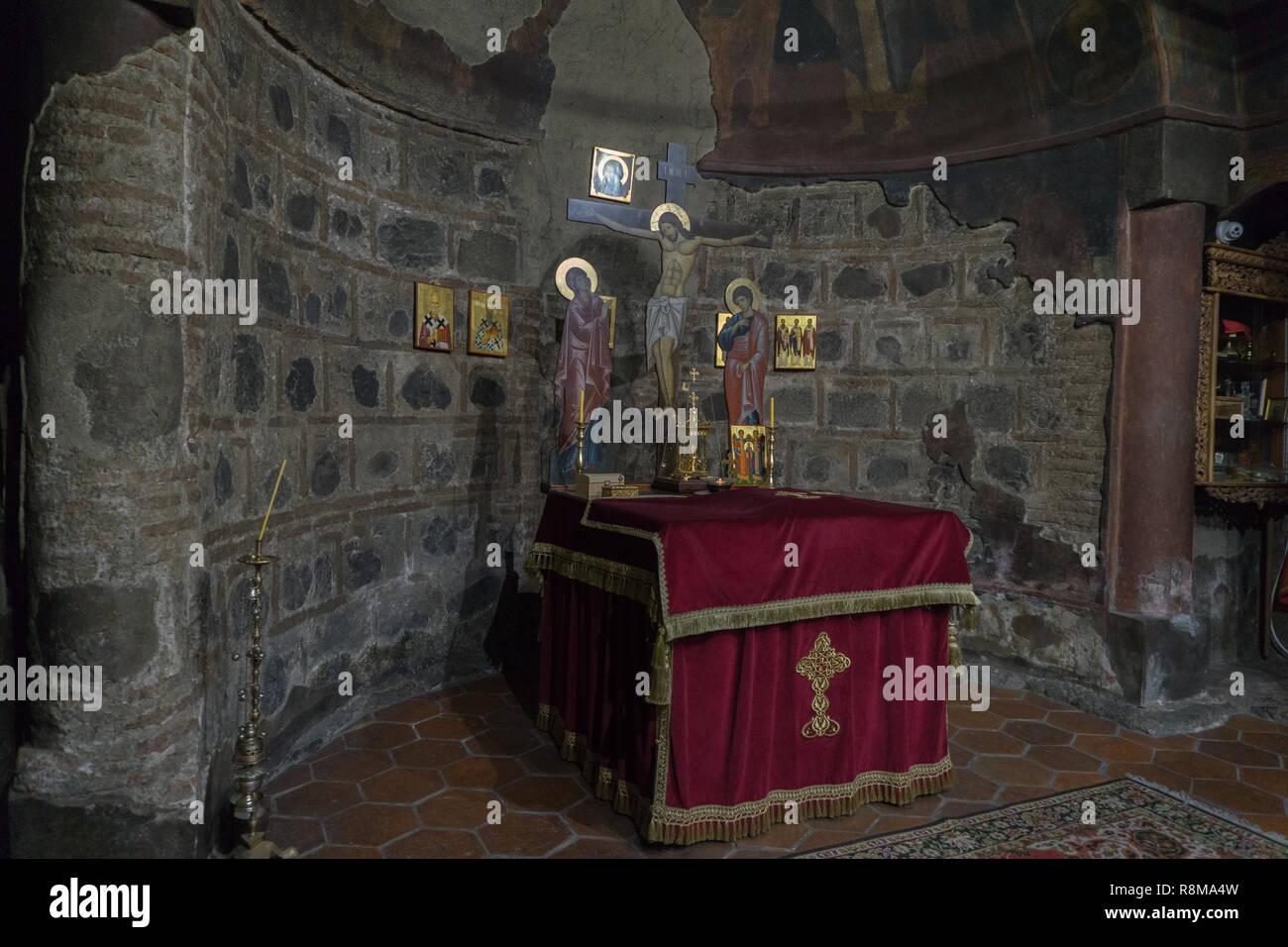 Interior of the church of Sveta Petka of saddlers Stock Photo