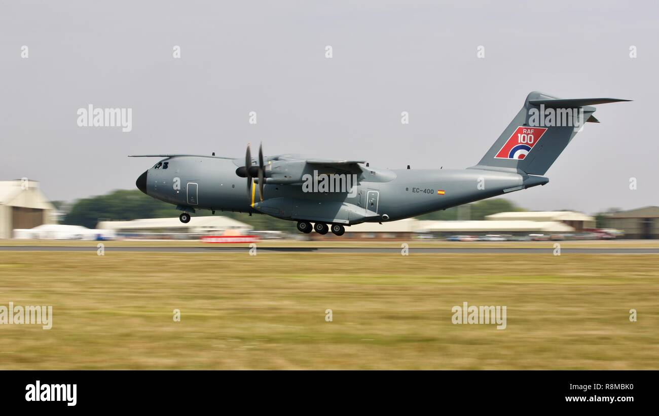 Royal Air Force A400M Atlas taking off from RAF Fairford - Stock Image