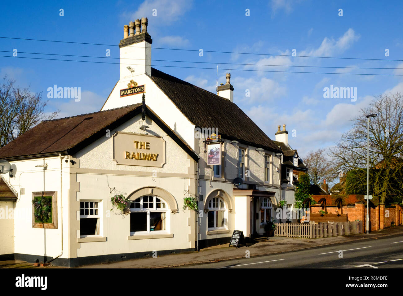 Shenstone is a small village is Staffordshire England UK - Stock Image
