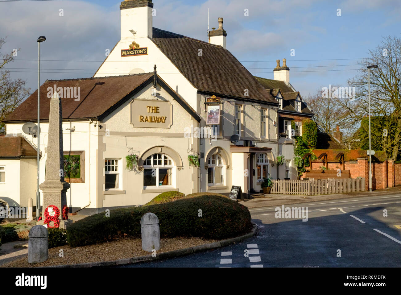 Shenstone is a small village is Staffordshire England UK  The railway Inn. - Stock Image