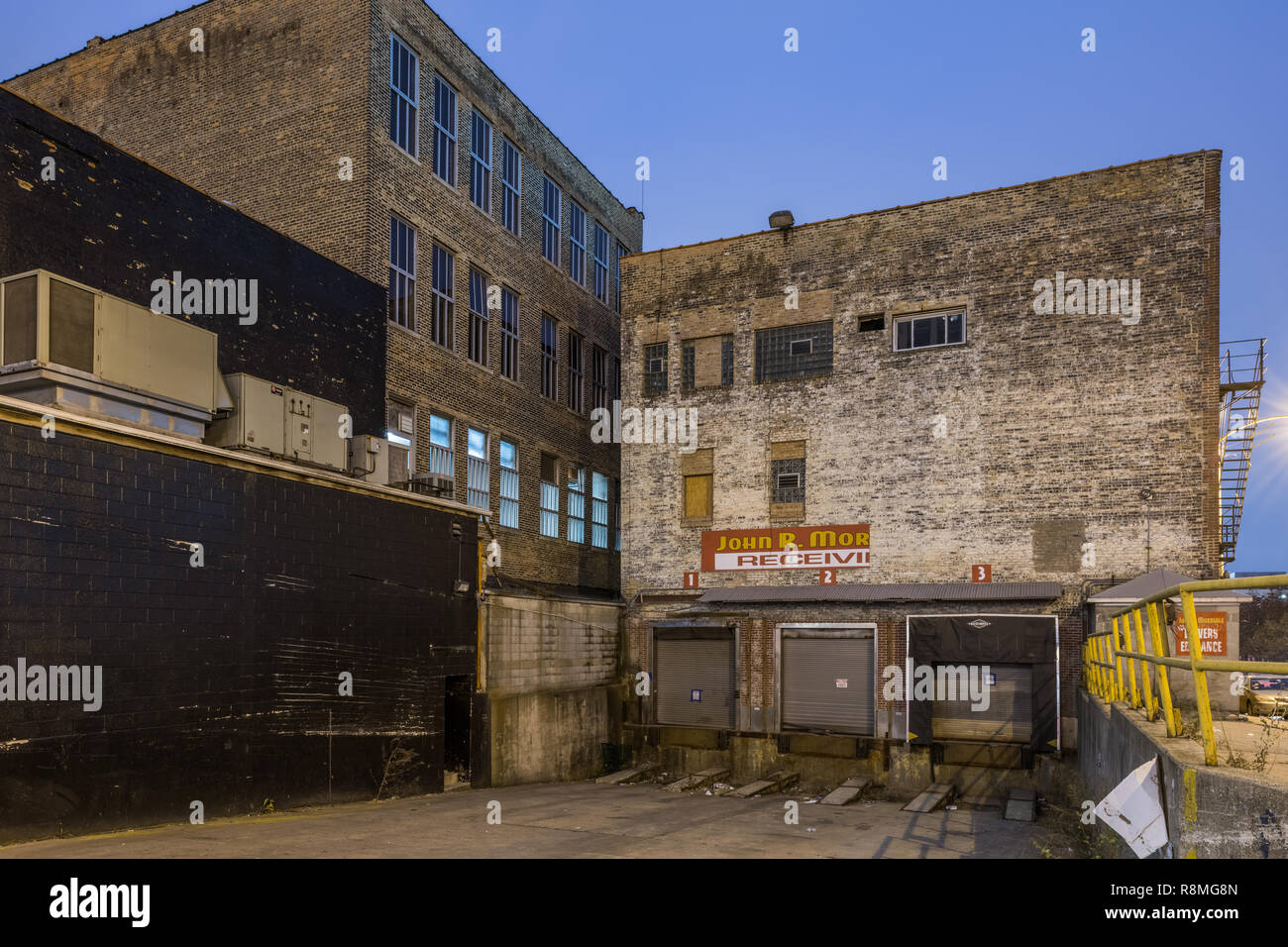 Industrial buildings in the Fulton Market neighborhood - Stock Image
