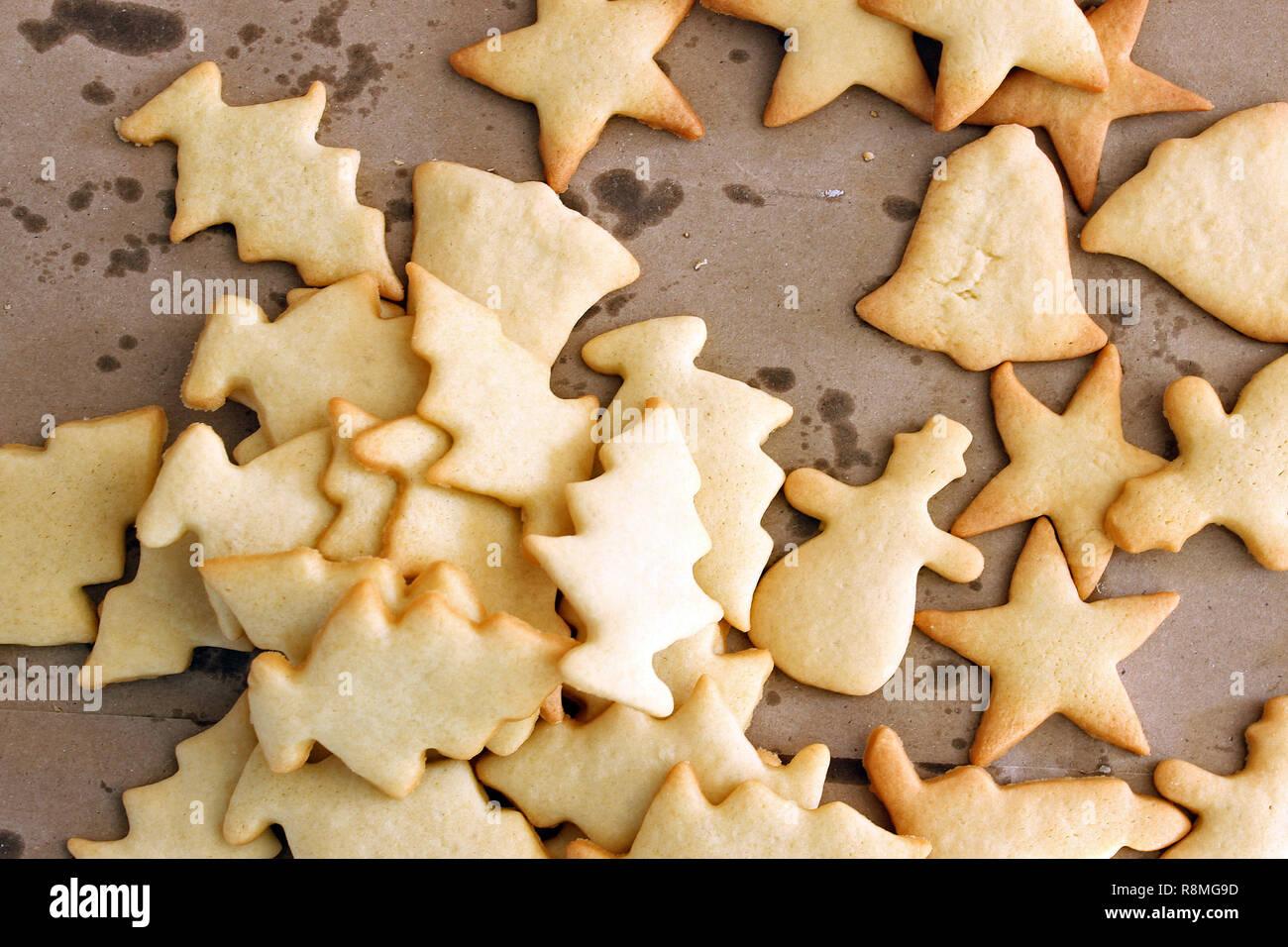 Plain Christmas Cookies Stock Photos Plain Christmas Cookies Stock