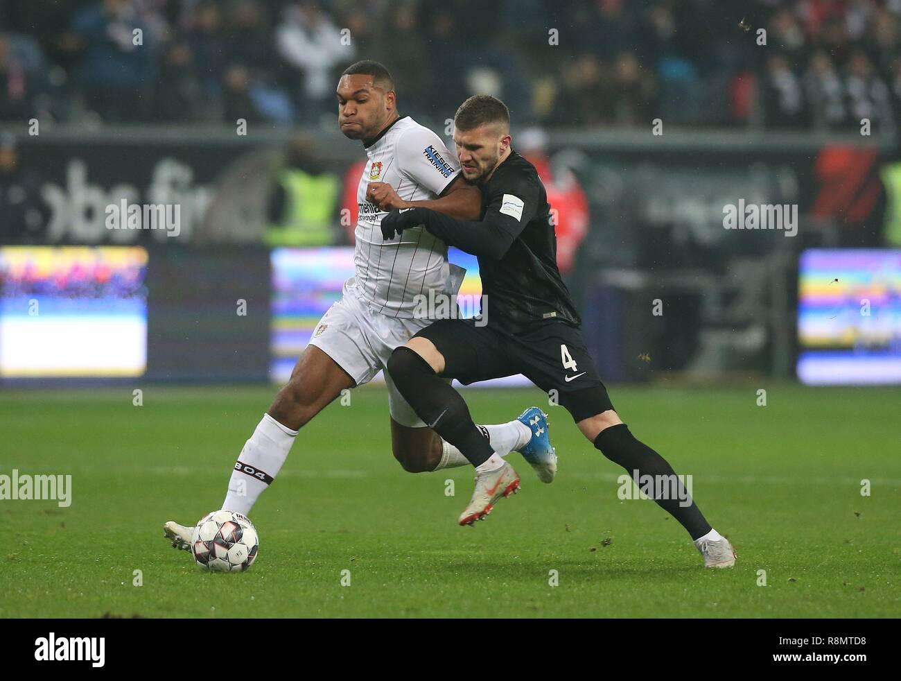 firo: 16.12.2018, football, 1.Bundesliga, season 2018/2019, Eintracht Frankfurt - Bayer 04 Leverkusen TAH versus REBIC   usage worldwide - Stock Image