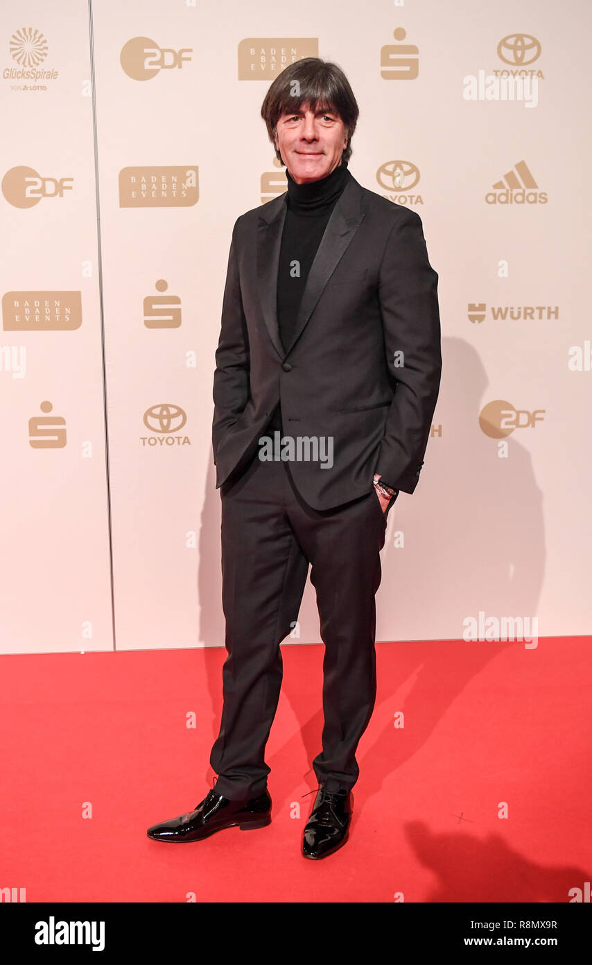Baden Baden, Germany. 16th Dec, 2018. Germany's national football team head coach Joachim Loew arrives to attend the awards ceremony of 2018 German Sports personality of the Year. Credit: Patrick Seeger/dpa/Alamy Live News - Stock Image