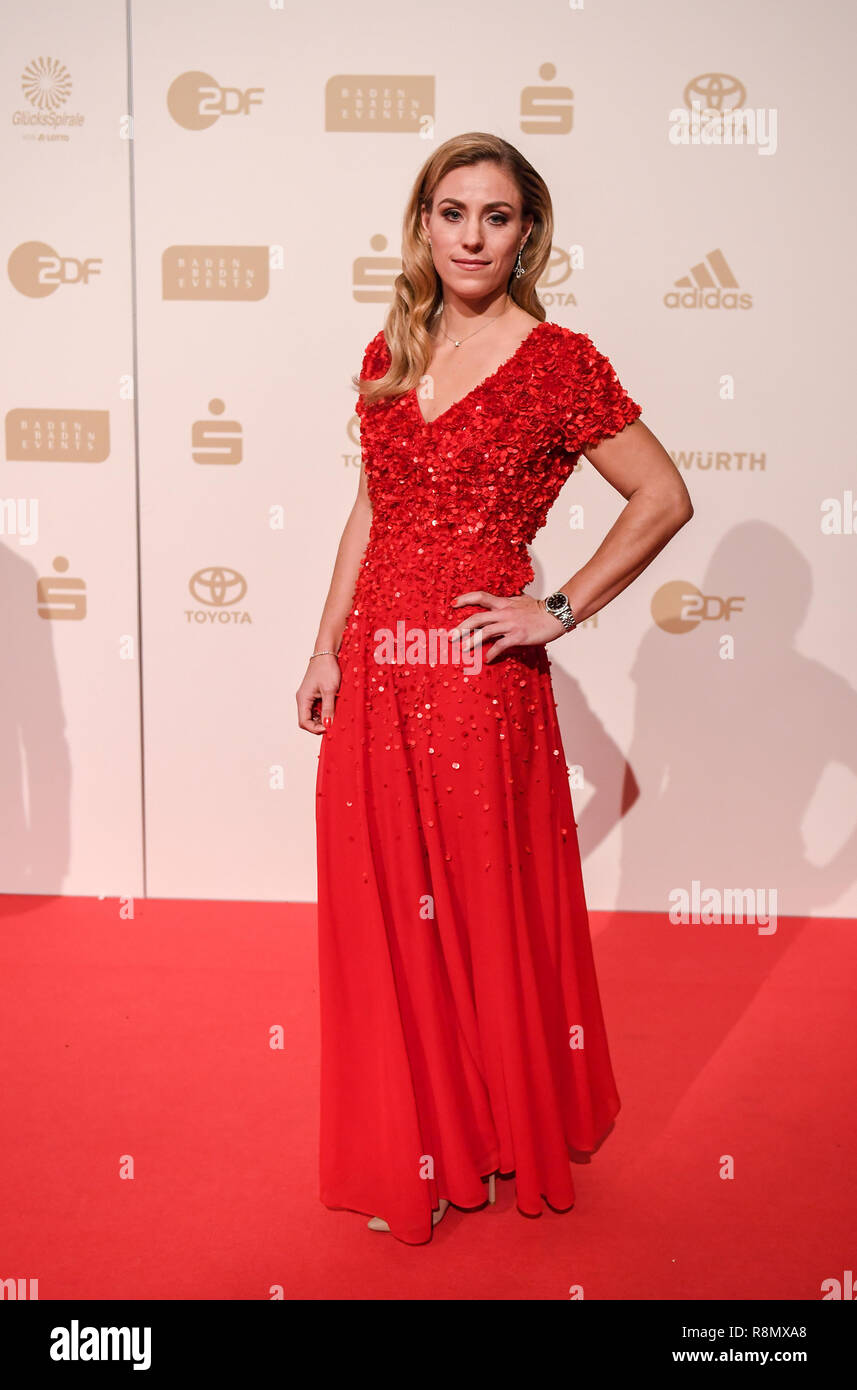 Baden Baden, Germany. 16th Dec, 2018. German tennis player Angelique Kerber arrives to attend the awards ceremony of 2018 German Sports personality of the Year. Credit: Patrick Seeger/dpa/Alamy Live News - Stock Image