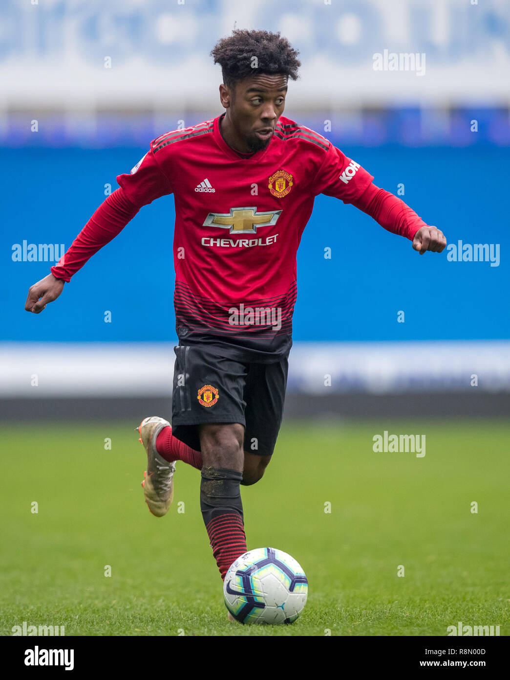 Reading Uk 16th Dec 2018 Angel Gomes Of Man Utd U23 During The Premier League 2 Division 2 Match Between Reading U23 And Manchester United U23 At The Madejski Stadium Reading England