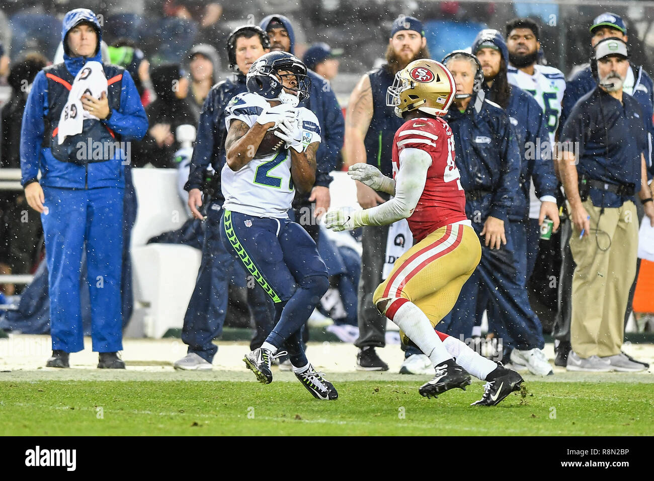 Santa Clara Ca 16th Dec 2018 Seattle Seahawks Running Back J D