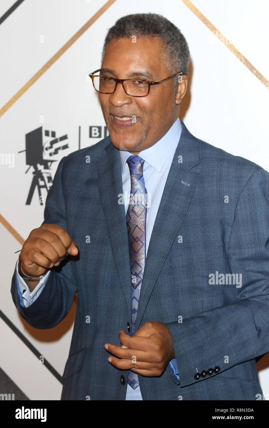 Michael Watson on the red carpet at the BBC Sports Personality Of The Year 2018 at the Resorts World Arena. - Stock Image