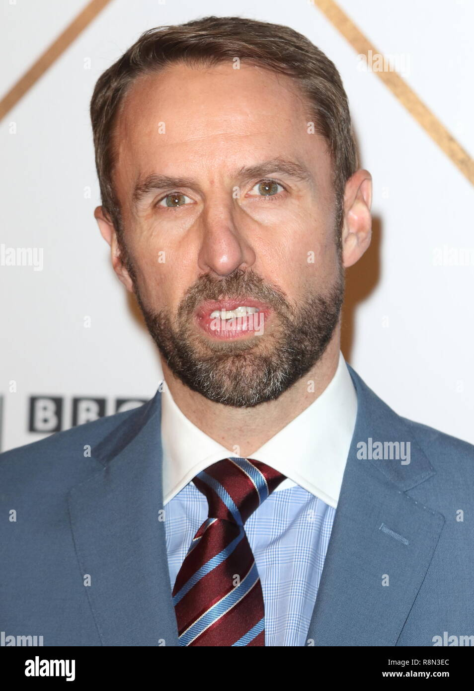 Gareth Southgate on the red carpet at the BBC Sports Personality Of The Year 2018 at the Resorts World Arena. - Stock Image