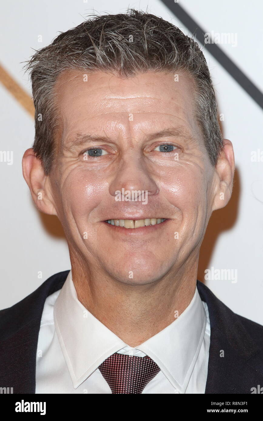 Steve Cram on the red carpet at the BBC Sports Personality Of The Year 2018 at the Resorts World Arena. - Stock Image
