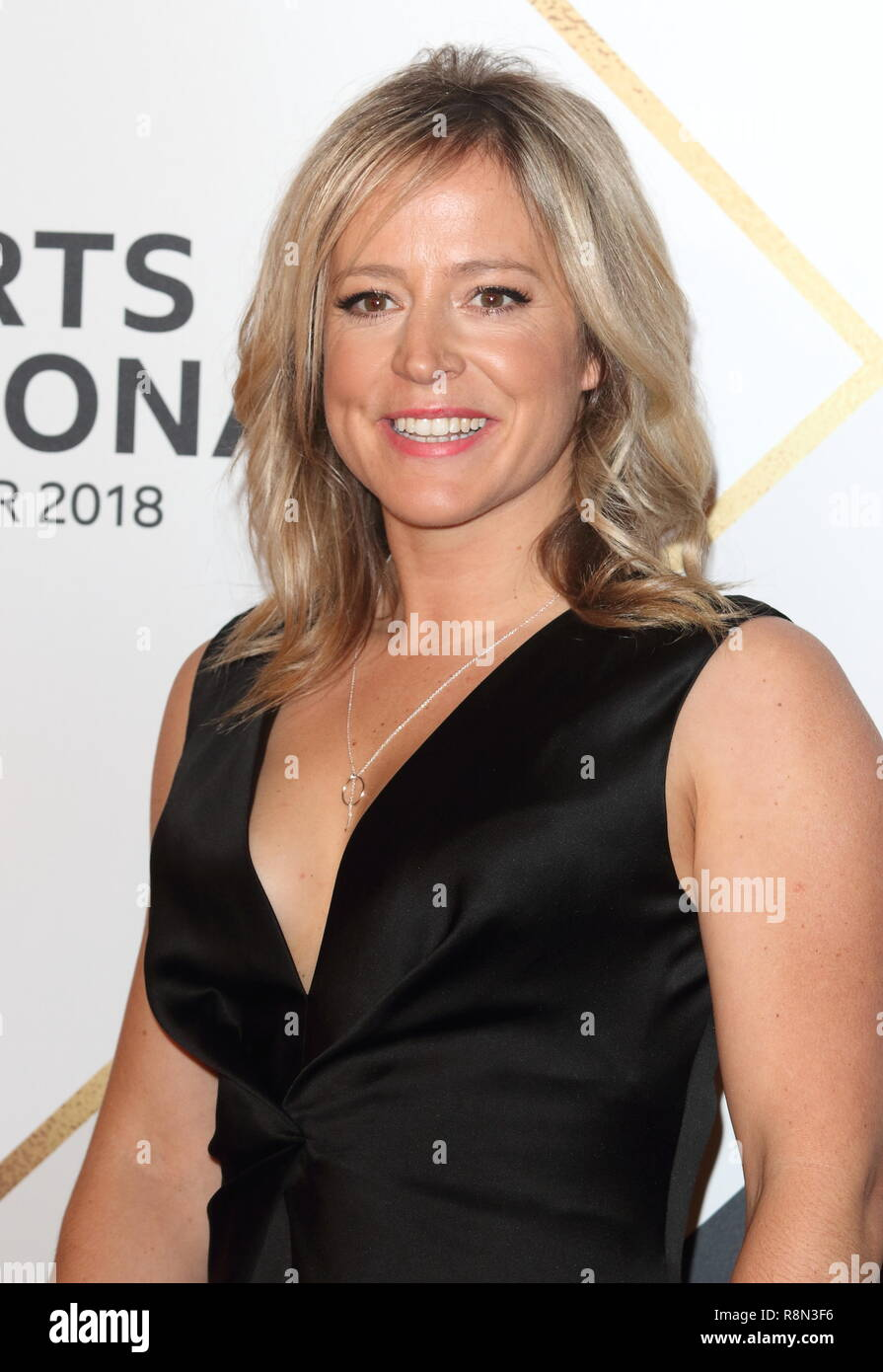Jenny Jones on the red carpet at the BBC Sports Personality Of The Year 2018 at the Resorts World Arena. - Stock Image