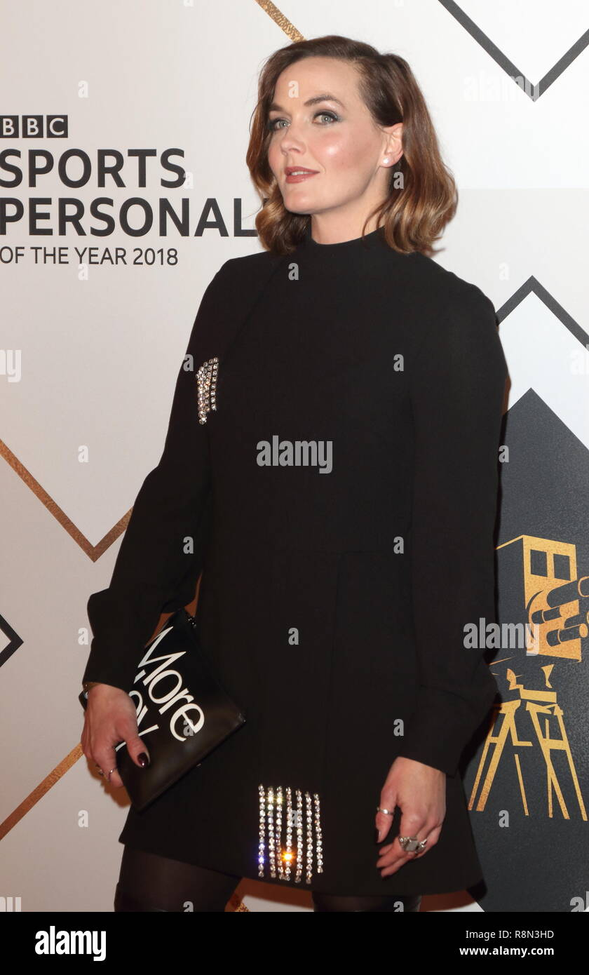 Birmingham, UK. 16th Dec, 2018. Victoria Pendleton on the red carpet at the BBC Sports Personality Of The Year 2018 at the Resorts World Arena. Credit: Keith Mayhew/SOPA Images/ZUMA Wire/Alamy Live News - Stock Image