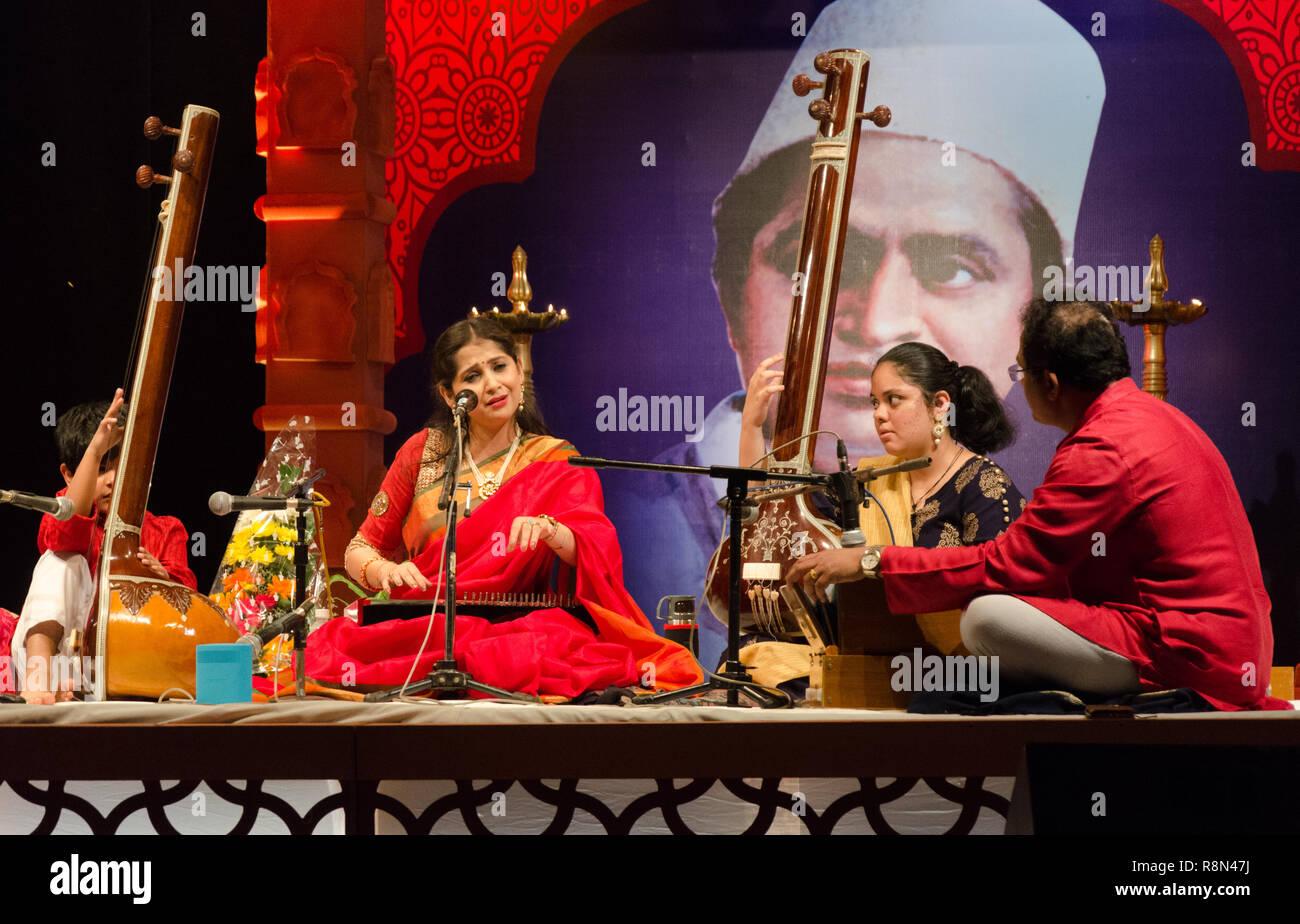 Panaji, India  16th December, 2018  Classical vocalist Kaushiki