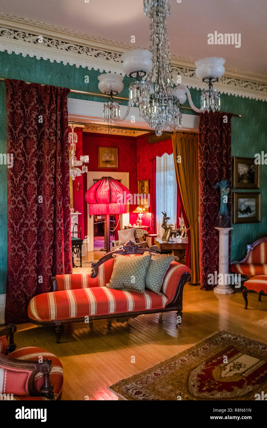 inside the toronto spadina house once occupied by the wealthy austin family - Stock Image