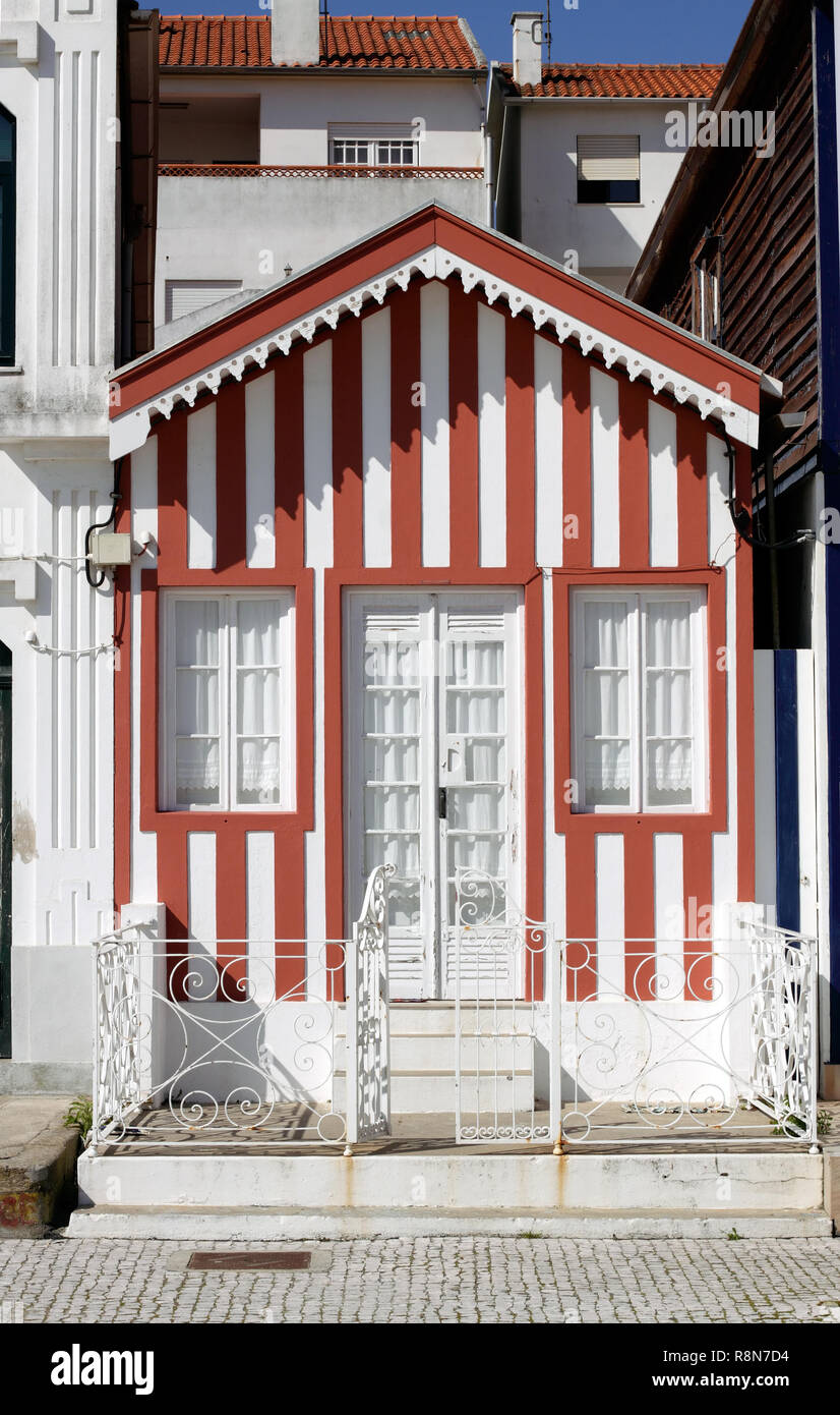 Typical house of Aveiro, Portugal (collection - sea others in my portfolio) - Stock Image